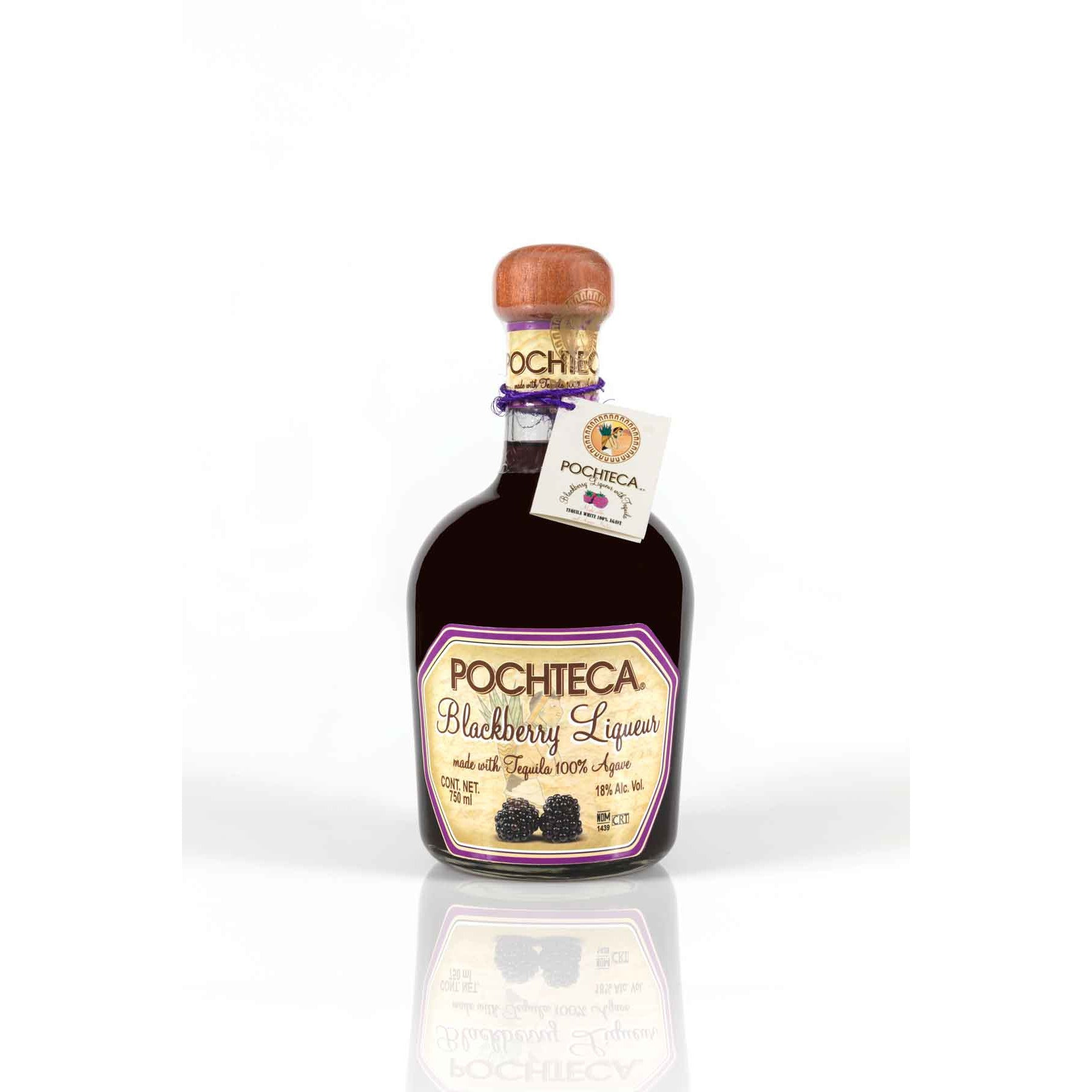 Pochteca Blackberry Liqueur with Tequila (375 ML)