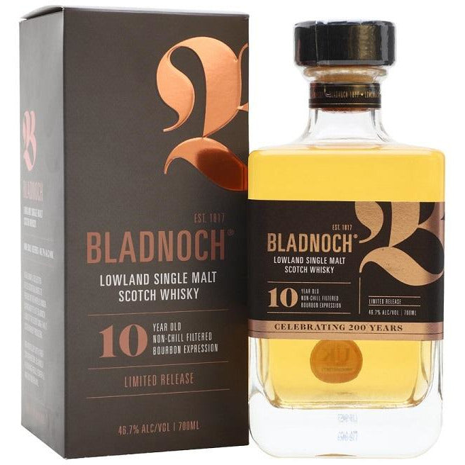 Bladnoch 10 Year Lowlang Single Malt Scotch Whisky 750 mL