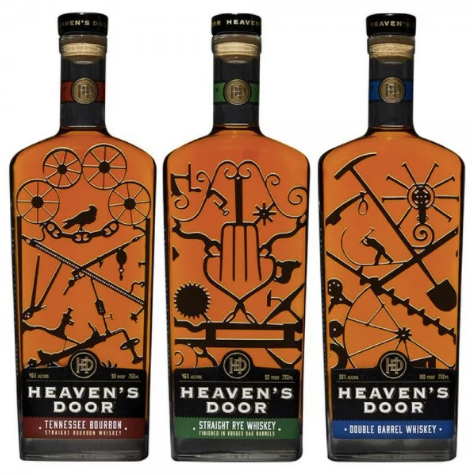Bob Dylan Heaven's Door Whiskey Set 3 Pack