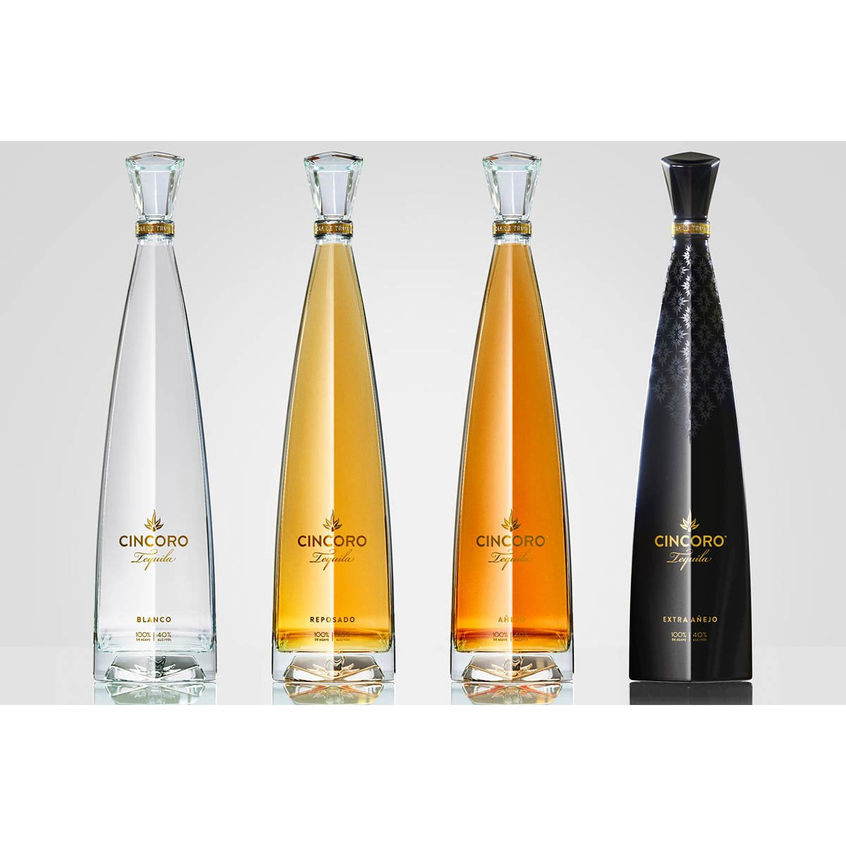 Cincoro Full Set Blanco, Reposado, Anejo, Extra Anejo (Michael Jordan) (750mL)