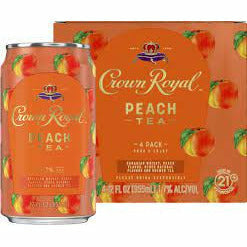 Crown Royal Peach Tea Whisky Cocktail - 4pk/12 fl oz Cans