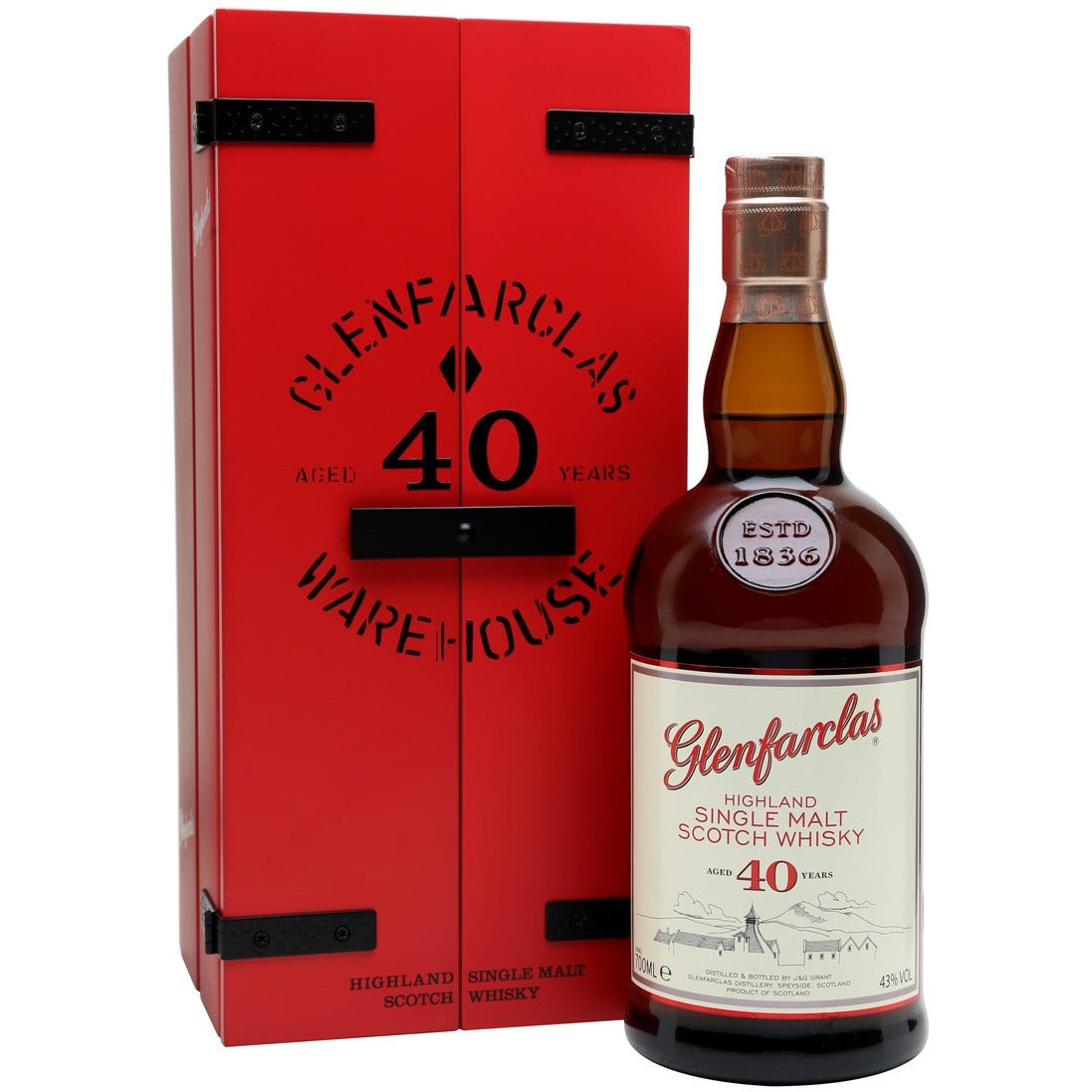 Glenfarclas 40 Year Warehouse Whisky 750 mL
