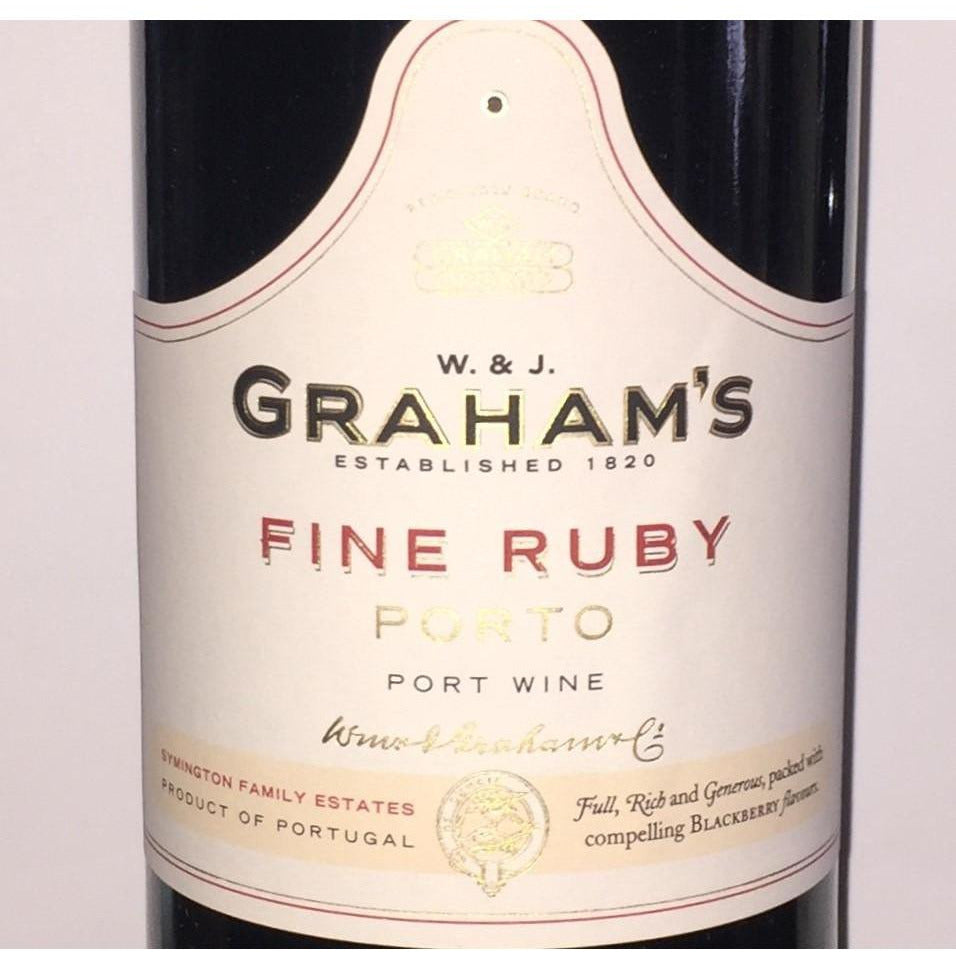 W. and J. Grahams Fine Ruby Porto Port Wine 750 ml