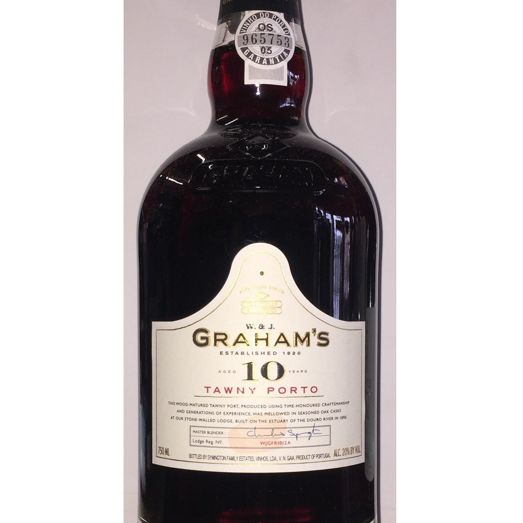 W. & J. Grahams Tawny Porto 10 Year Port Wine