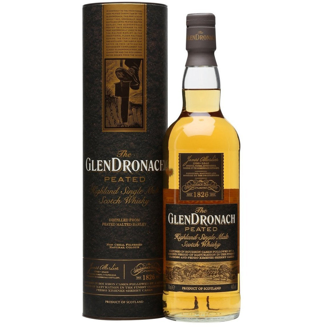 Glendronach Peated Highland Single Malt Scotch Whiskey