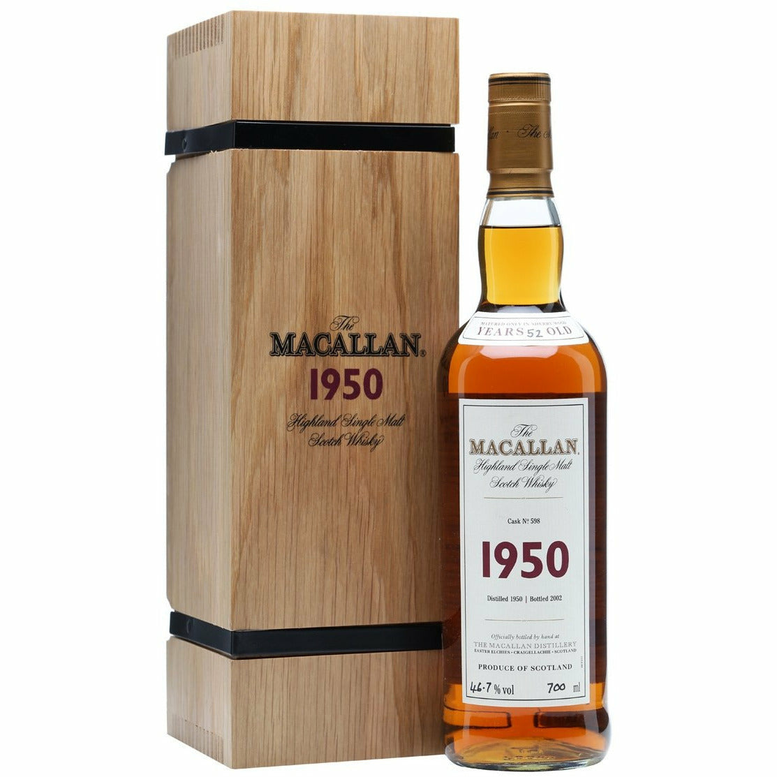 The Macallan Fine and Rare 1950 Scotch Whiskey 750 ml
