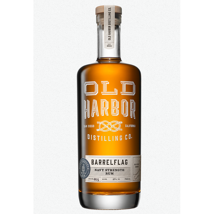 Old Harbor Barrelflag Navy Strength Rum 750 ML