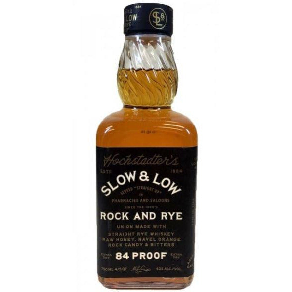 Rock and Rye Slow and Low Straight Rye Whiskey 750 ML