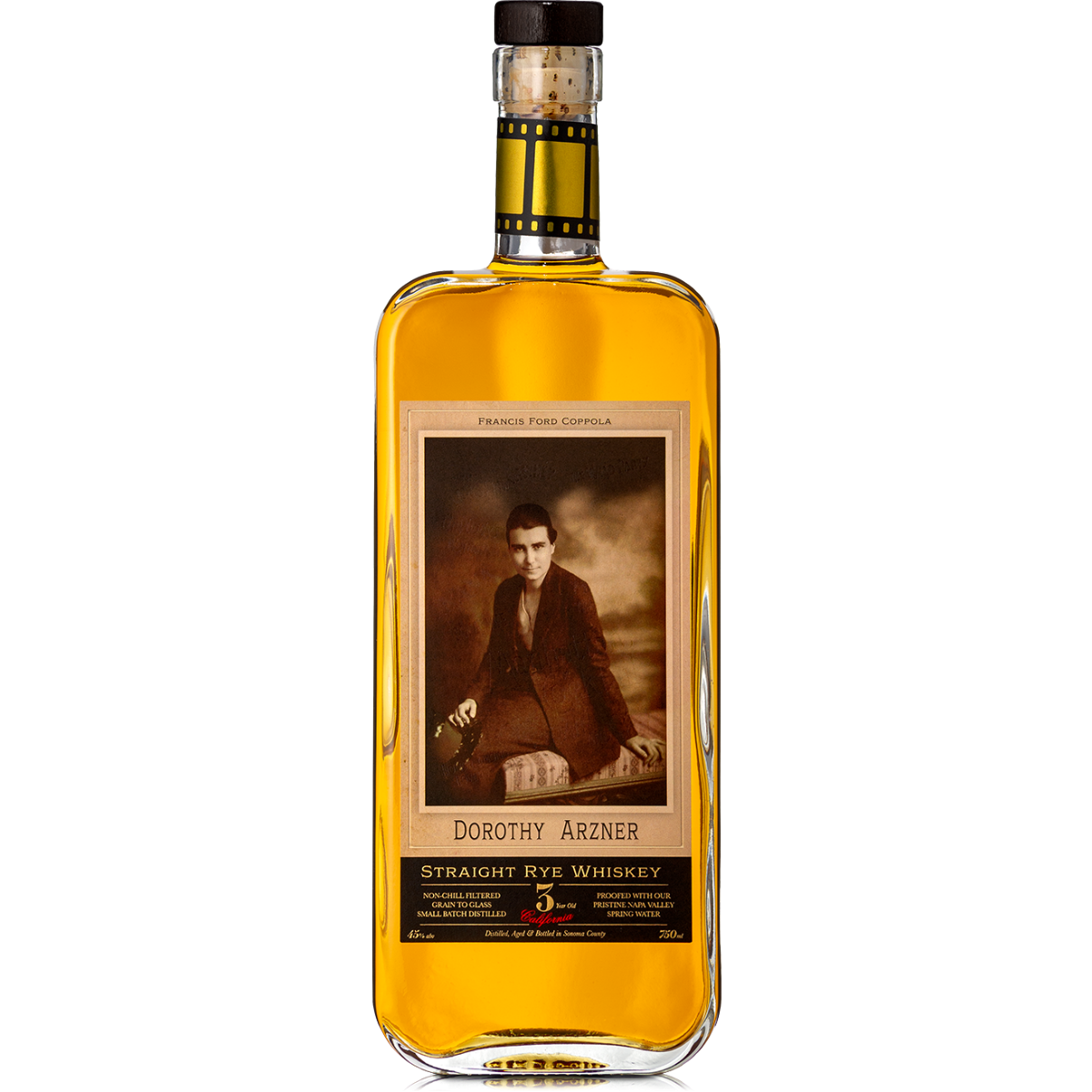 Dorothy Arzner Straight Rye Whiskey 3 Year (750mL)