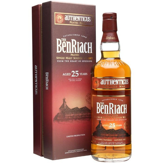 The BenRiach Authenticus Peated 25 Year Single Malt Whisky 750 mL