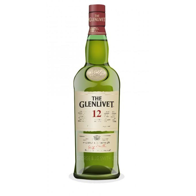 The Glenlivet 12 Year Single Malt Scotch Whisky (375 ML)