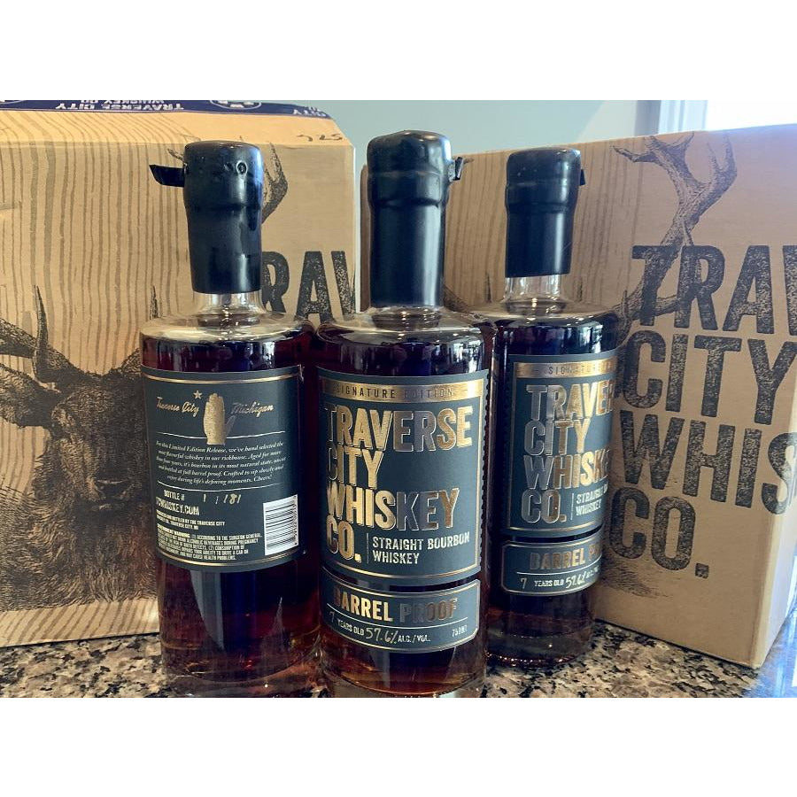 Traverse City 7 Year Barrel Strength Bourbon Bourbon Pursuit & Keg N Bottle store Pick 750 mL