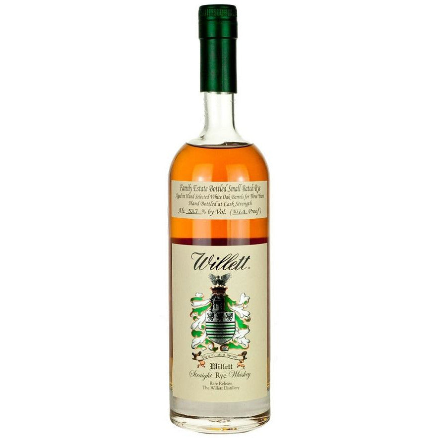 Willett 3 Year Cask Strength Straight Rye Whiskey 750 ml