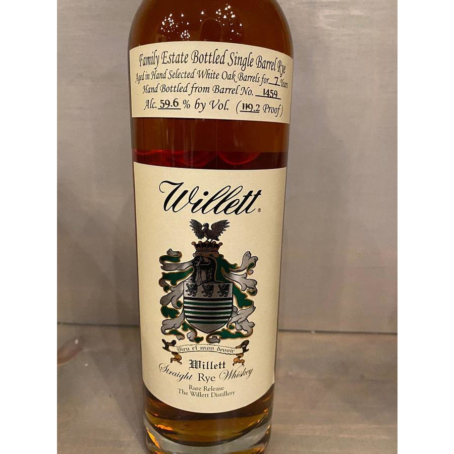 Willett Estate Single Barrel Rye 7 Year Red Dragon Whiskey Bourbon Pursuit & knB 750 mL