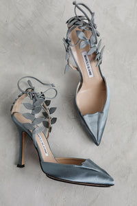 Gray Leaf Manolo Blahnik Shoes