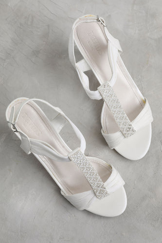 Roman Style White Wedding Shoes
