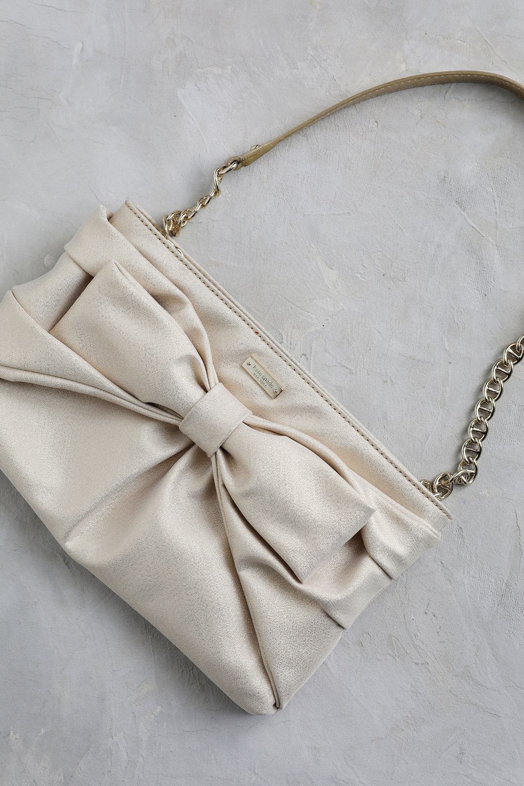 Gold Bow Kate Spade Purse