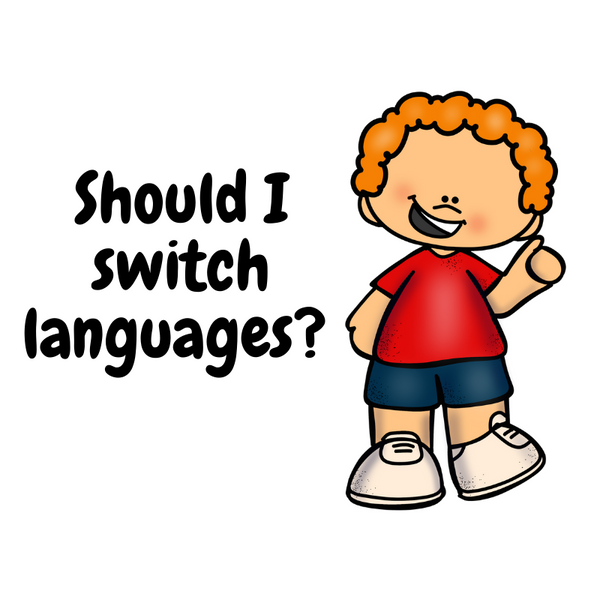 Should I switch languages with my child?