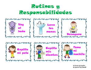 Printable Routines & Responsibilities / Recorded Pronunciation