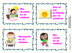 Morning Routine Song - Canción de la Rutina en la mañana / Classroom Visuals & Worksheets