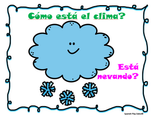 Weather Song - Canción del Clima + Classroom Visuals & how to video
