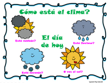 Load image into Gallery viewer, Weather Song - Canción del Clima + Classroom Visuals & how to video