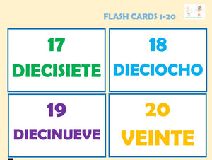 Spanish Class: Numbers 1-20