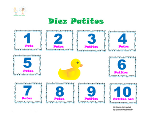 Numbers 1-10 / Patitos /  Video Class & Worksheets