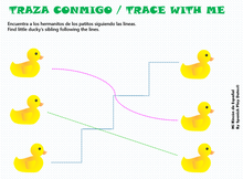 Load image into Gallery viewer, Numbers 1-10 / Patitos /  Video Class & Worksheets