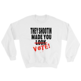 THEY SHOOTIN SWEAT SHIRT / BLACK & RED INK
