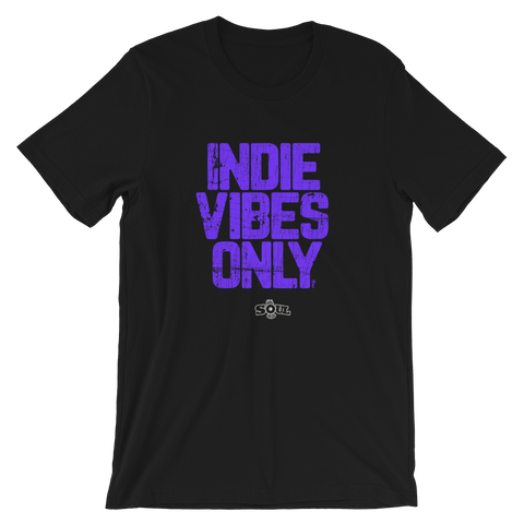 INDIE VIBES ONLY / PURPLE INK DISTRESSED