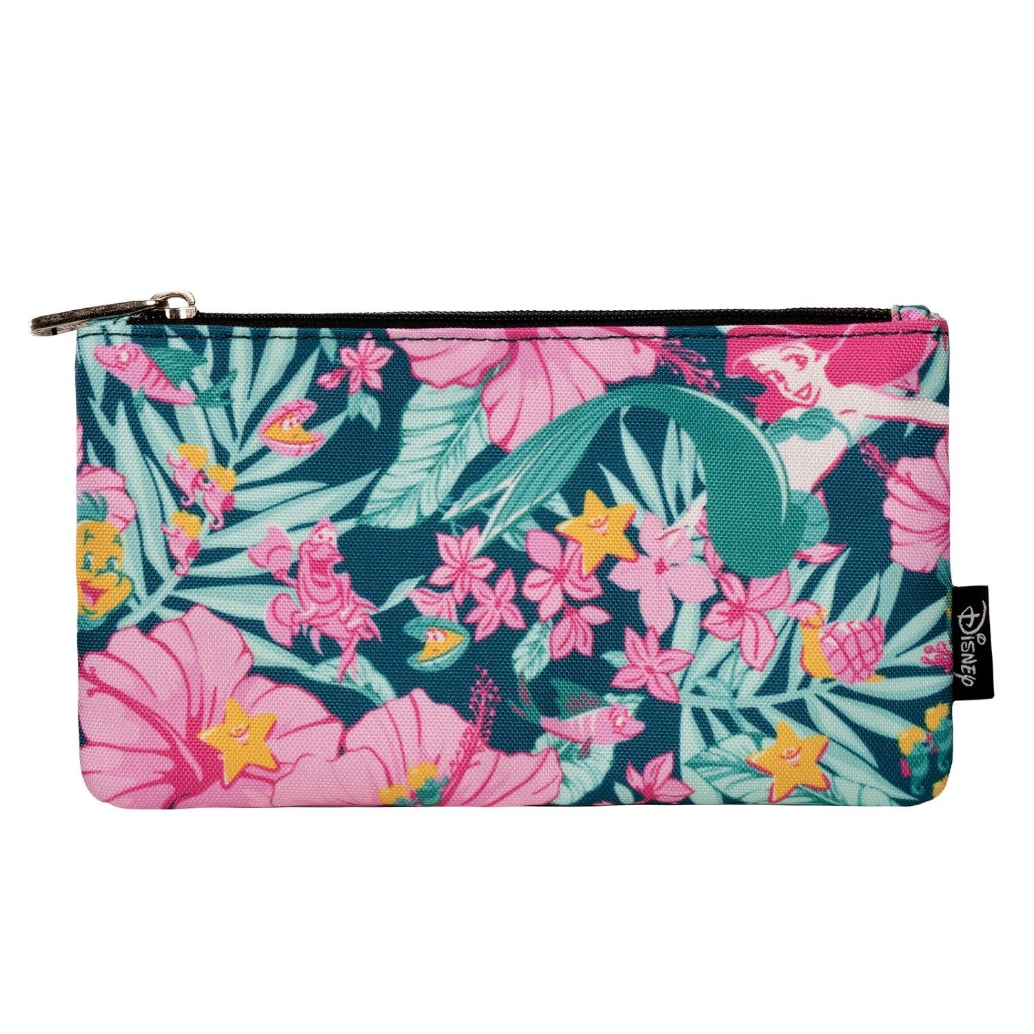 Loungefly x Ariel Hibiscus Print Coin/Cosmetic Bag