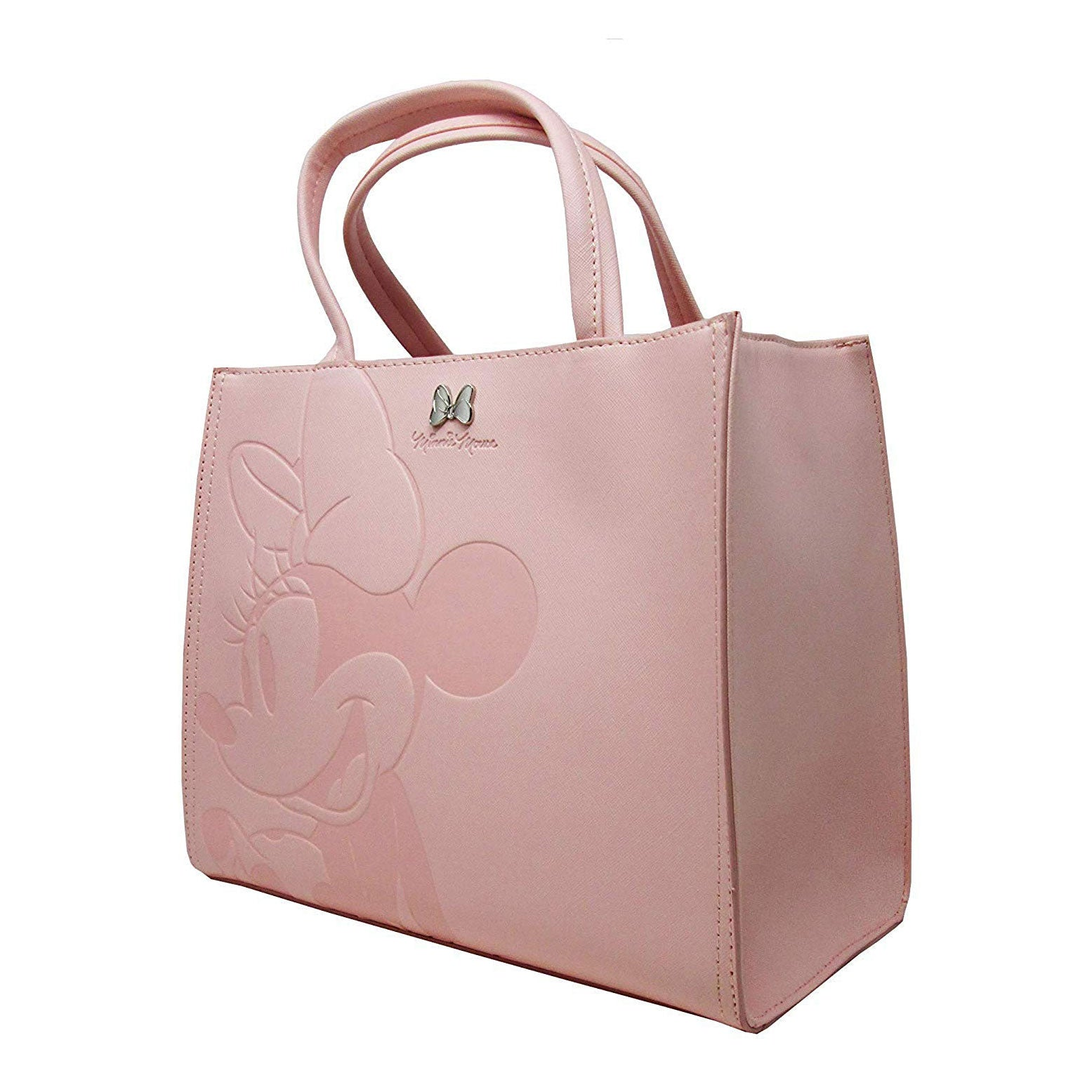 Loungefly x Disney Minnie Mouse Pink Debossed Top-Handle Bag