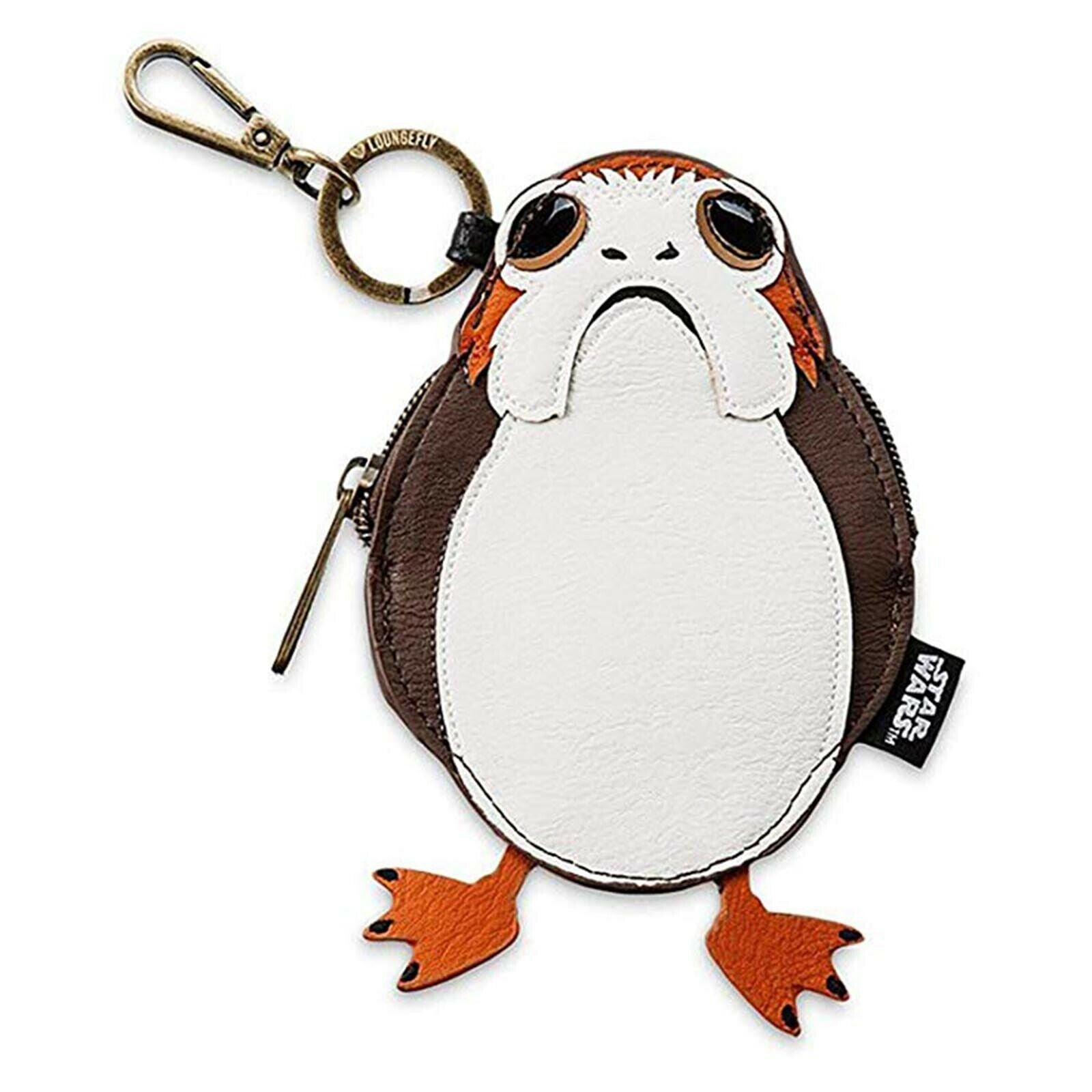 Loungefly x Star Wars  Porg  Zipper Coin Bag with Clip
