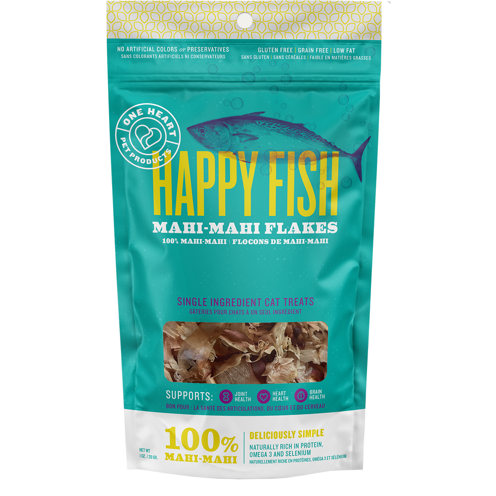 Happy Fish Mahi-Mahi Flakes - One Heart Pet