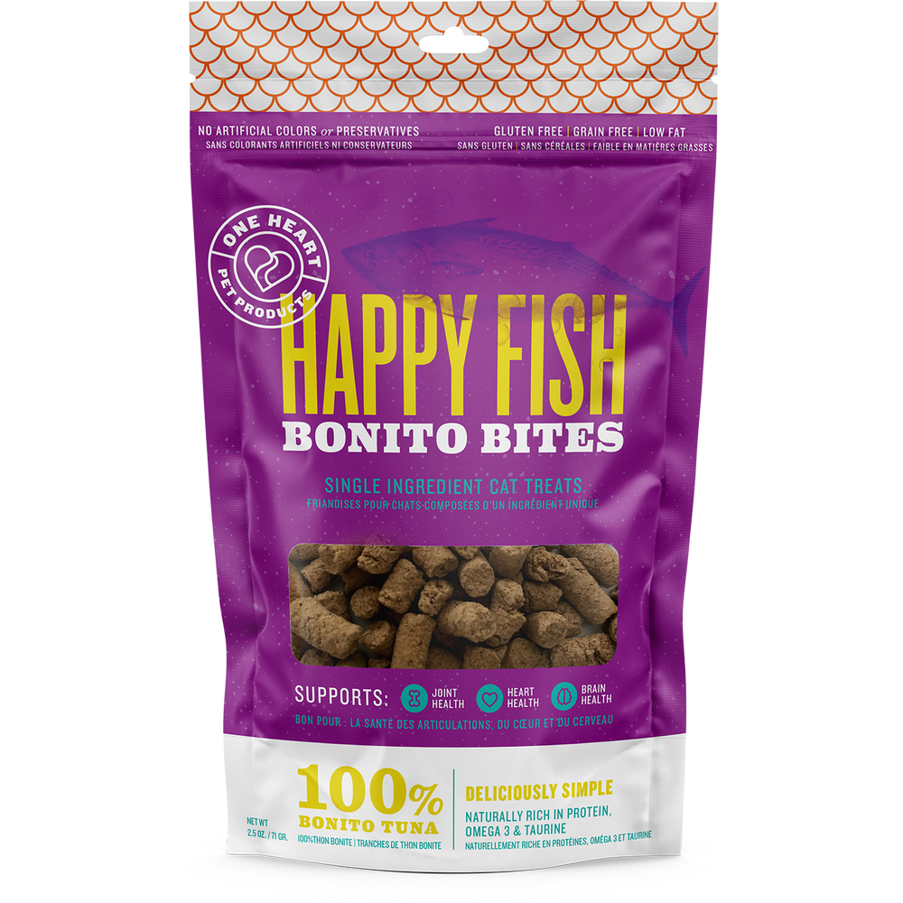 Happy Fish Bonito Bites (2.5 oz) - One Heart Pet