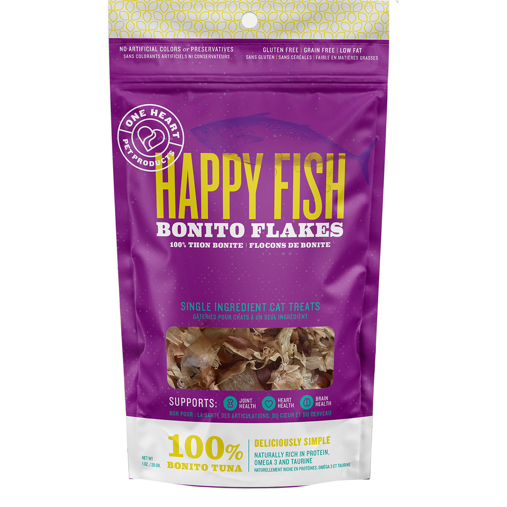 Happy Fish Bonito Flakes (1 oz) - One Heart Pet