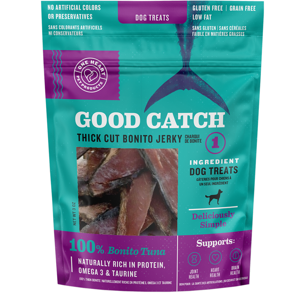 Good Catch Thick Cut Bonito Jerky (3 oz) - One Heart Pet