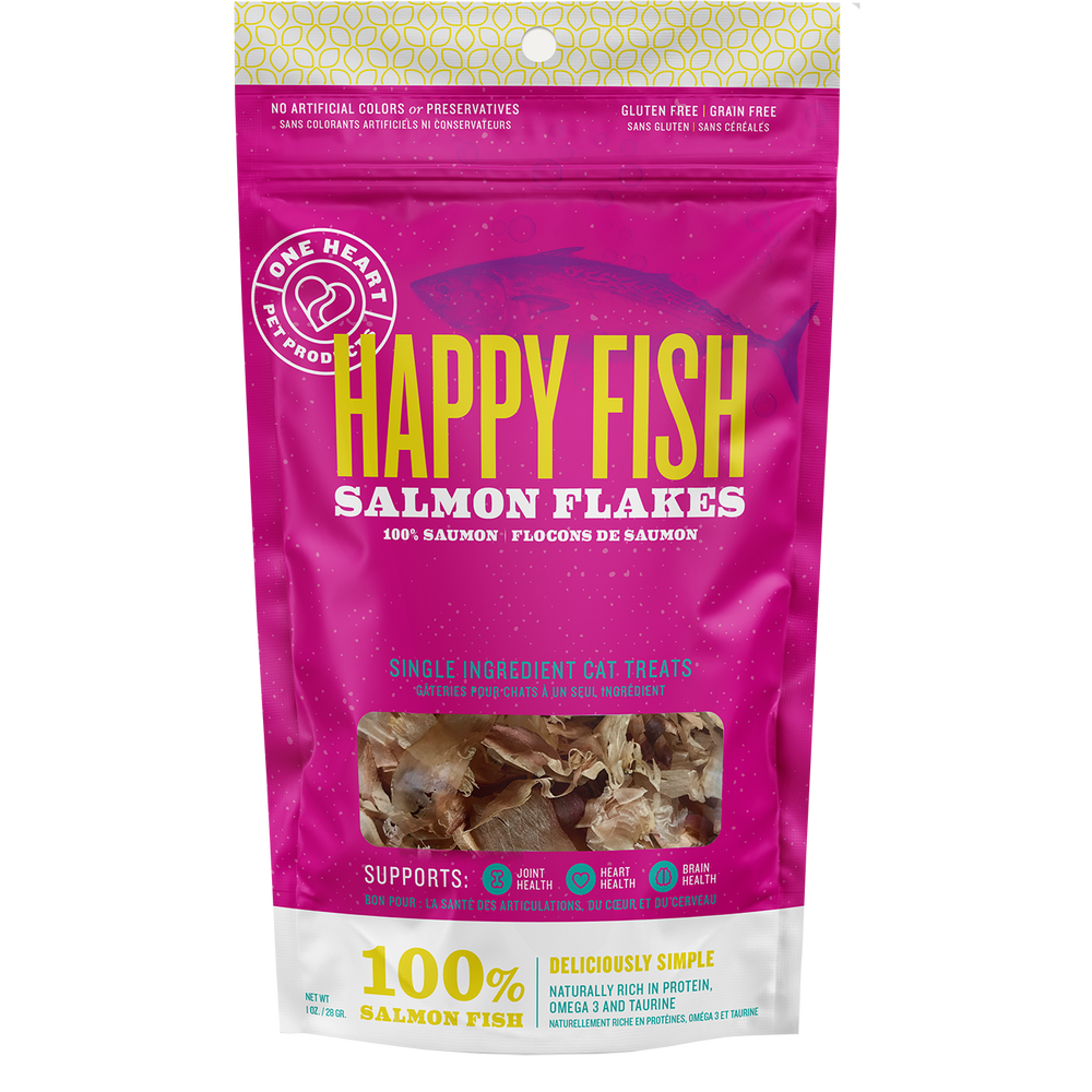 Happy Fish Salmon Flakes, 1 oz