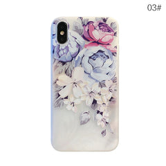 Floral Silicone Case for iPhone X