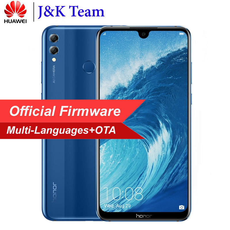 Huawei Honor 8X Max 7.12 inch MobilePhone 4900mAh Battery Smartphone Android 8.2 16MP Camera Google Play Multiple Language