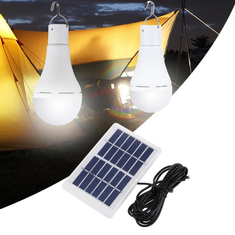 Portable Solar Light 5 Modes 20 COB LED Solar Light USB Rechargeable Energy Bulb Lamp for Outdoors Camping Tent Solar Lamp