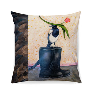 Magpie Pillow - Feathers
