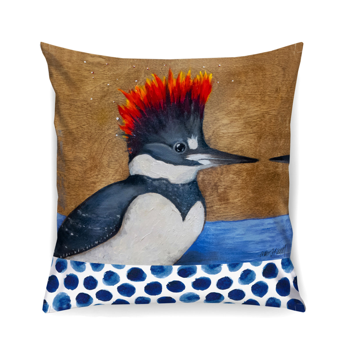 Kingfisher Pillow Arin Waddell Art Off The Wall