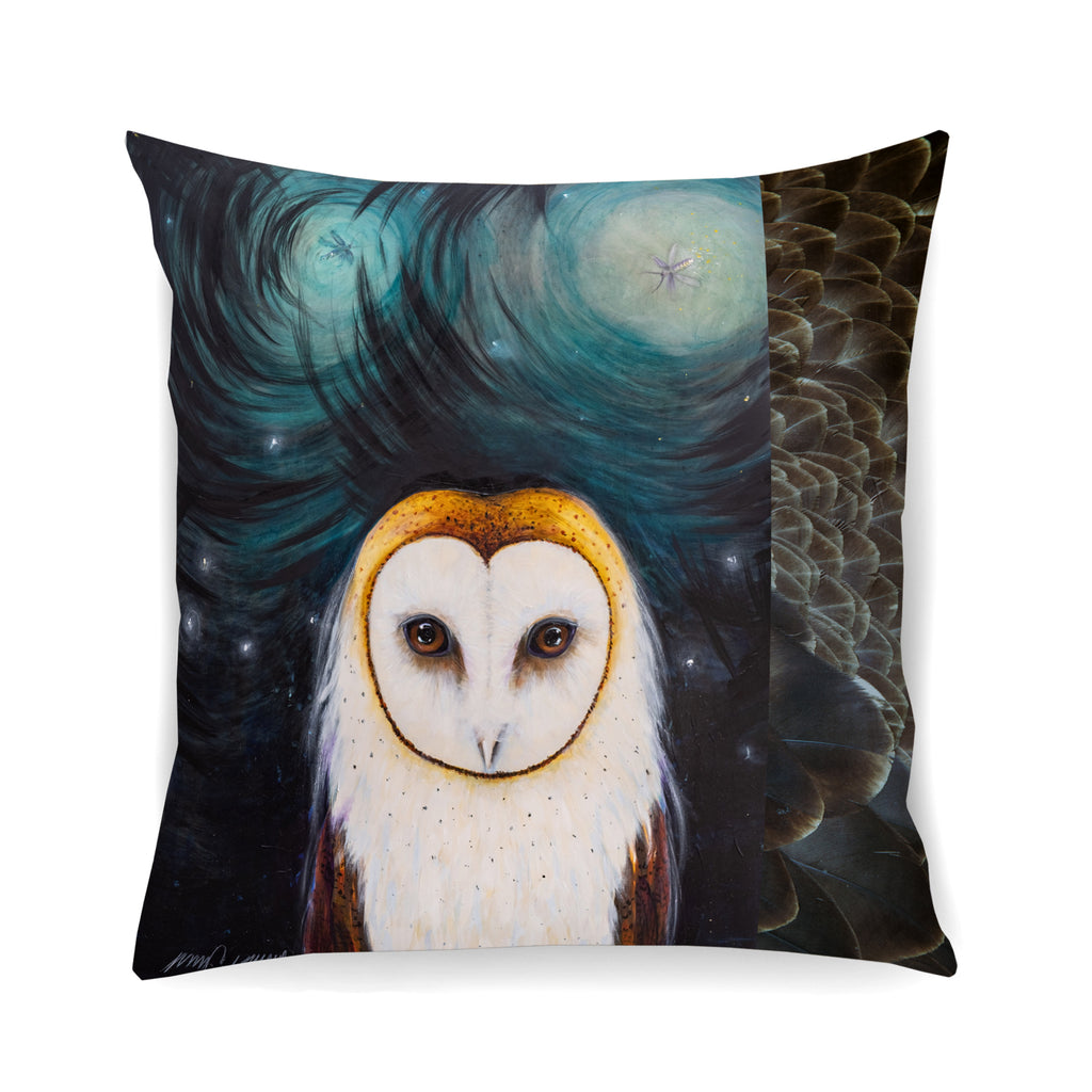 Owl Pillow- Feathers