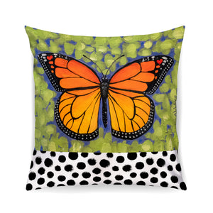 Butterfly Pillow- Black Plush