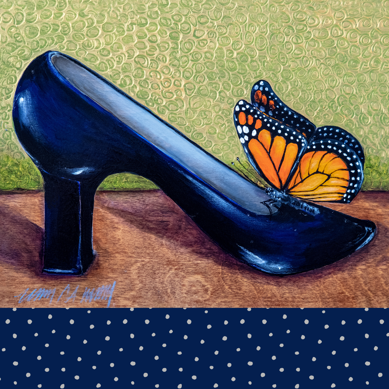 Shoe Pillow- Navy Mood Velvet