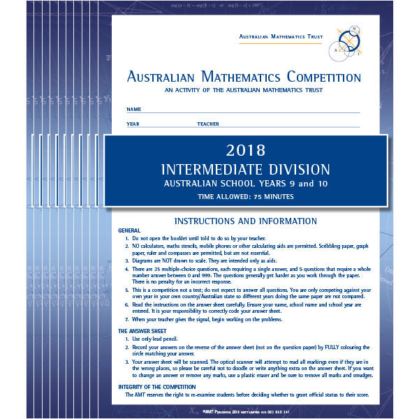 AMC 2018 Intermediate school set