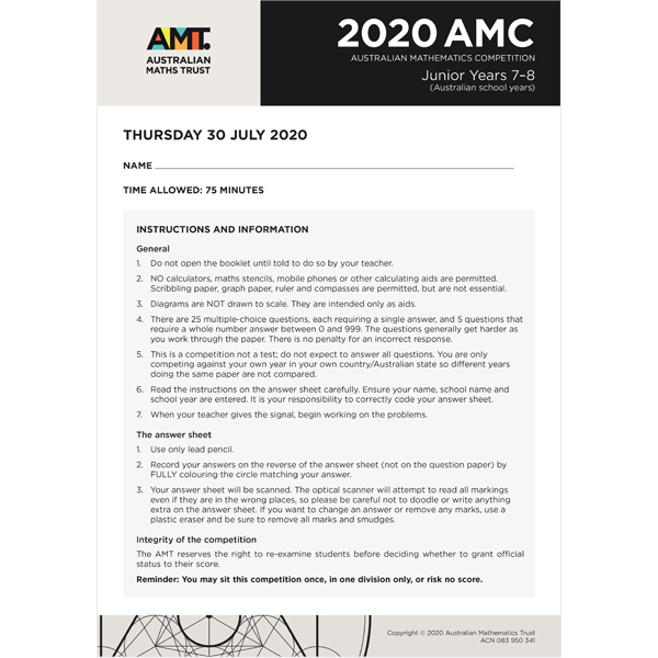 AMC 2020 Junior