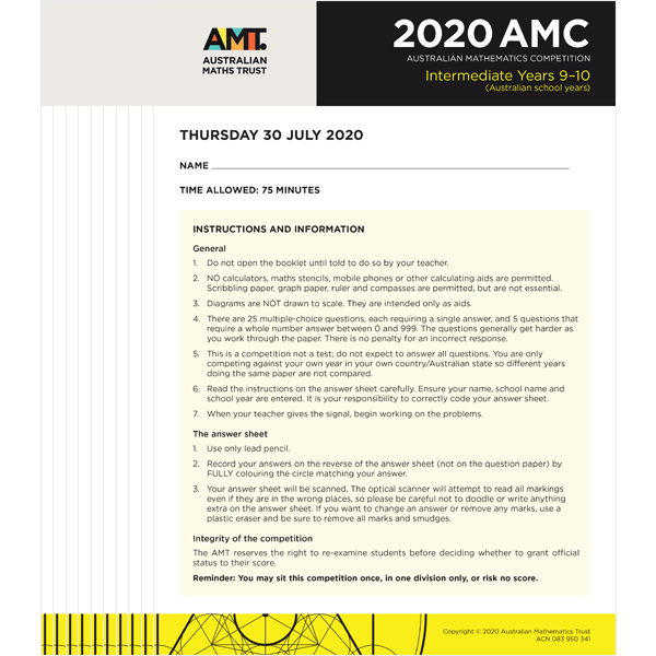 2020 AMC Intermediate school set